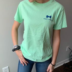 SIMPLY SOUTHERN LIME BOW LOGO TEE